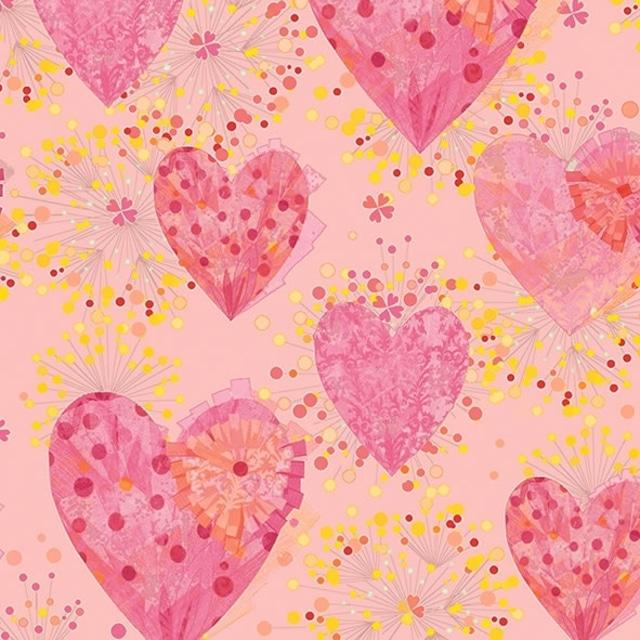 【artablo】バラ売り2枚 ランチサイズ ペーパーナプキン PREMAVERA HEARTS ピンク