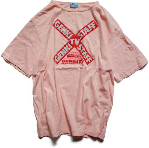 80年代 元気が出るテレビ スタッフ Tシャツ | ビートたけし 北野武 ヴィンテージ 古着