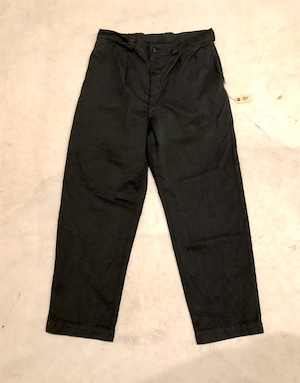 VINTAGE FRENCH MILITARY PANTS Black dyed