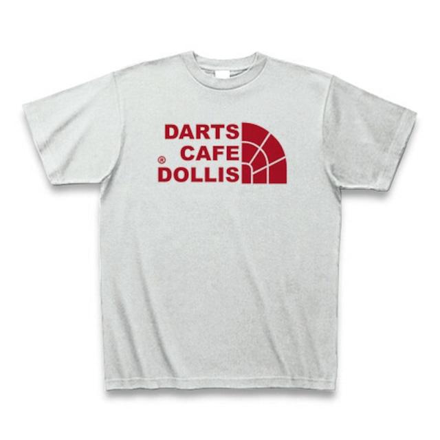 DOLLiSフェイスロゴTシャツ(灰/赤)
