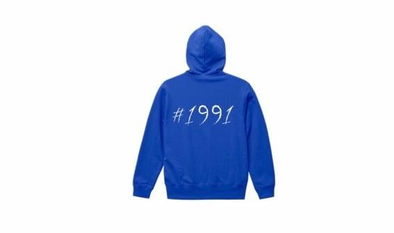 1991 big logo hoodie (blu/wh)