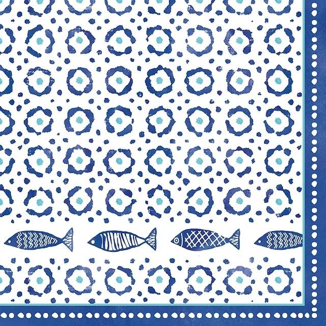 【Easy Life】バラ売り2枚 ランチサイズ ペーパーナプキン Sea Shore ブルー