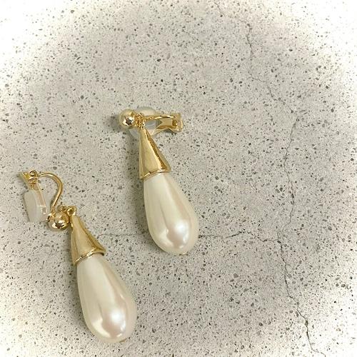 SALON/サロン Metal×drop pearl earring TS98ET-661
