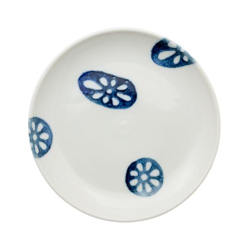 徳永遊心窯 印判蓮根 5寸皿
