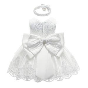 子供ドレス キッズ ベビー ジュニア 女の子ドレス フォーマルドレス パーティードレス 赤ちゃん 出産祝い お宮参り 新生児 白70cm-120cm 8343