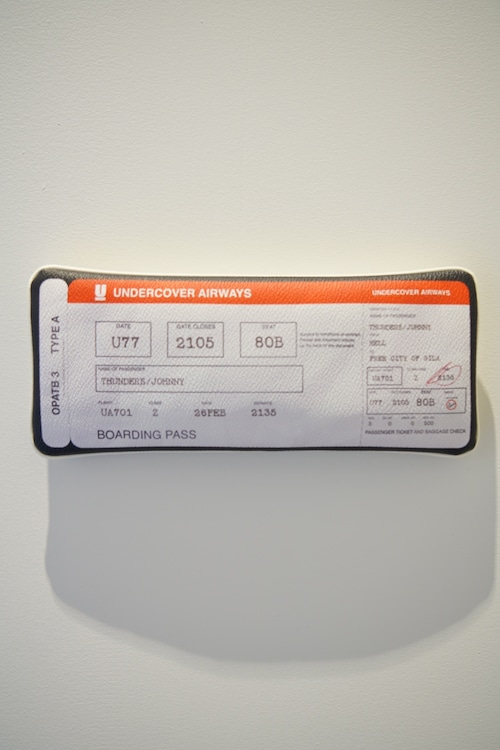 UCR8P06 転写ポーチ AIR TICKET