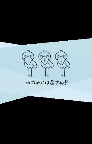 防水スマホケース(ジッパータイプ)★ハシビロコウ