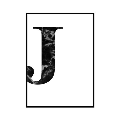 """J"" 黒大理石 - Black marble - ALPHAシリーズ [SD-000511] B3サイズ ポスター単品"