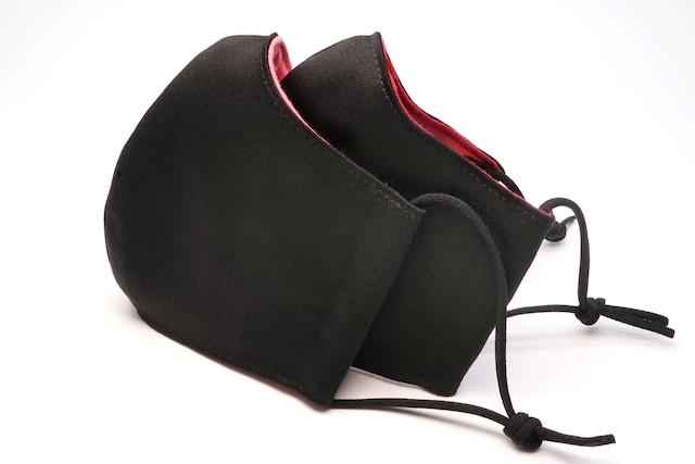 【セール】洗える黒い布マスク【裏地2色】
