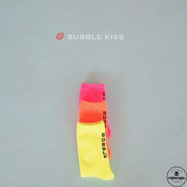 «sold out» bubble kiss neon socks 3colors ネオンソックス