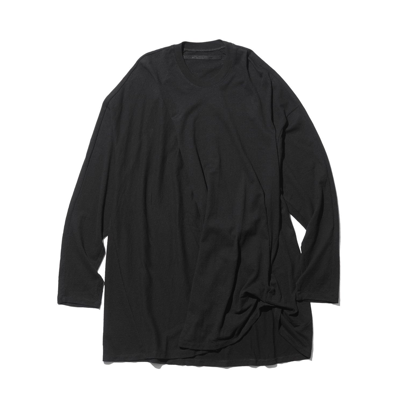 747CUM5-BLACK / タックドロングスリーブTシャツ