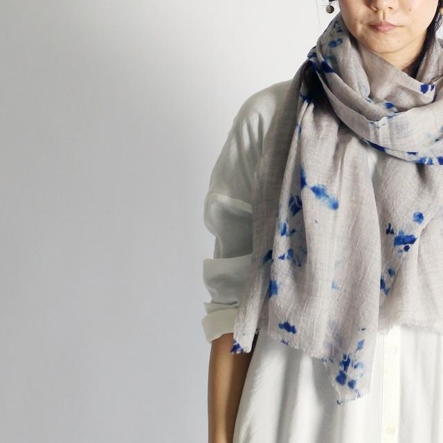 Hand Woven Baby Wool Madara Shibori ベビーウール ショール #2114[ suzusan ]