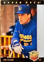 MLBカード 93UPPERDECK Jim Tatum STAR ROOKIE  #013 BREWERS