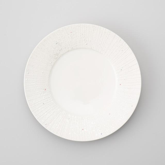 【古千窯】リムラスター23㎝丸皿(強化磁器)