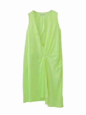 Peal drape dress / yellow green  / S15DR05