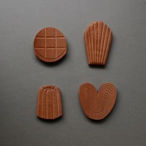 フランス焼き菓子 壁掛けオブジェ(4つセット)