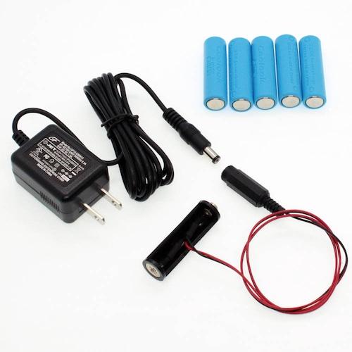 単3電池×6本用 ACアダプター接続ケーブル 50cmセット品 [AABAT-6-50cm-SET]