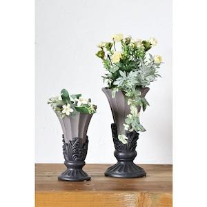 グレーのデコラティブな花瓶(L) 036-150-312-812L