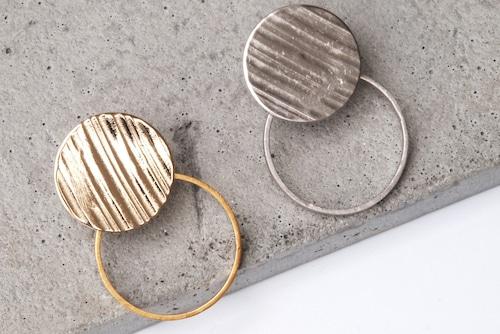 Double circle cymbal earrings【イヤリング】