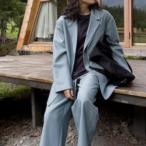 Double lapel suit jacket(ダブルラペルスーツジャケット)b-410