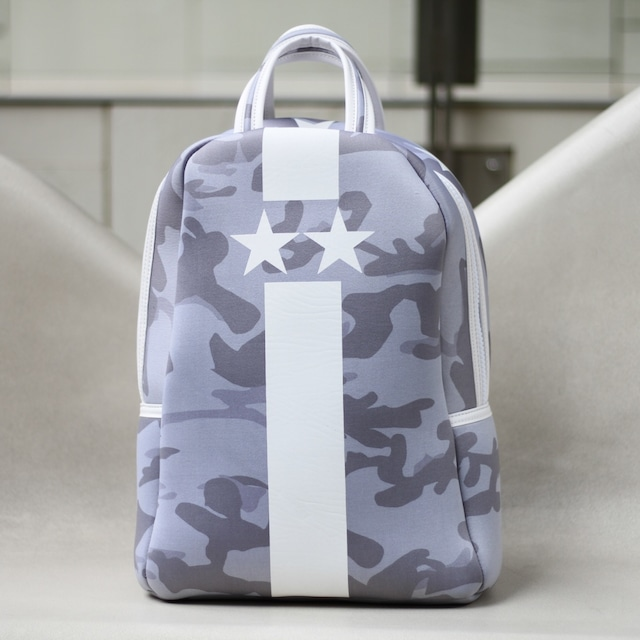 Gray Starline white camouflage backpack