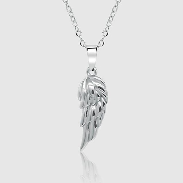 Wing Pendant Necklace【SILVER】