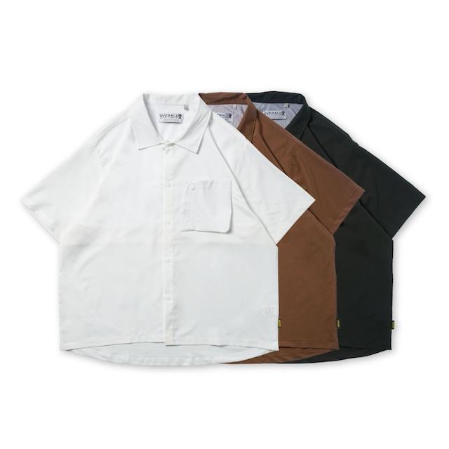 【UNISEX】フロントポケット ショートスリーブ カラーシャツ【3colors】UN-581