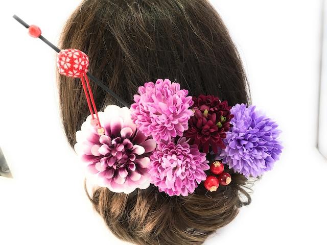レトロ*江戸小町の花かんざしセット*