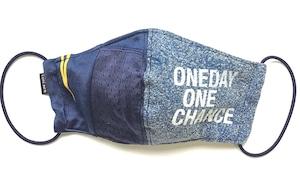 【デザイナーズマスク 吸水速乾COOLMAX使用 日本製】ONE DAY DENIM SPORTS MIX MASK CTMR 0924068