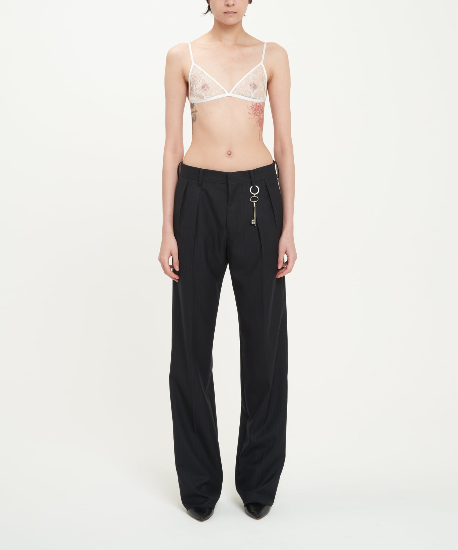 Navy Pinstripe PORTRAIT Trousers