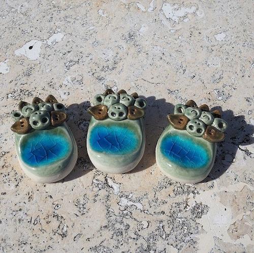 コマカアイランドブルー はしおき2個セット【玉城焼】