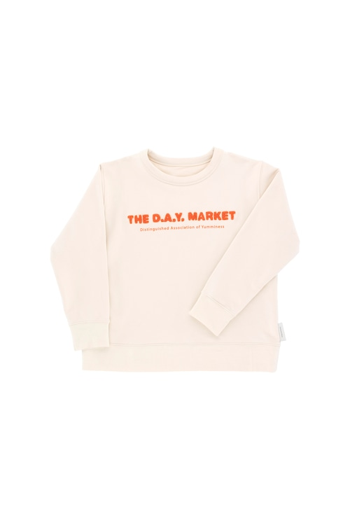 《tinycottons 2018AW》the day market graphic sweatshirt / beige × red