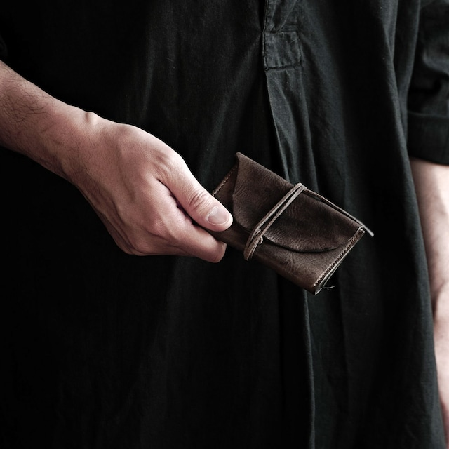 三折カードケース  紐 sasaki yuichi