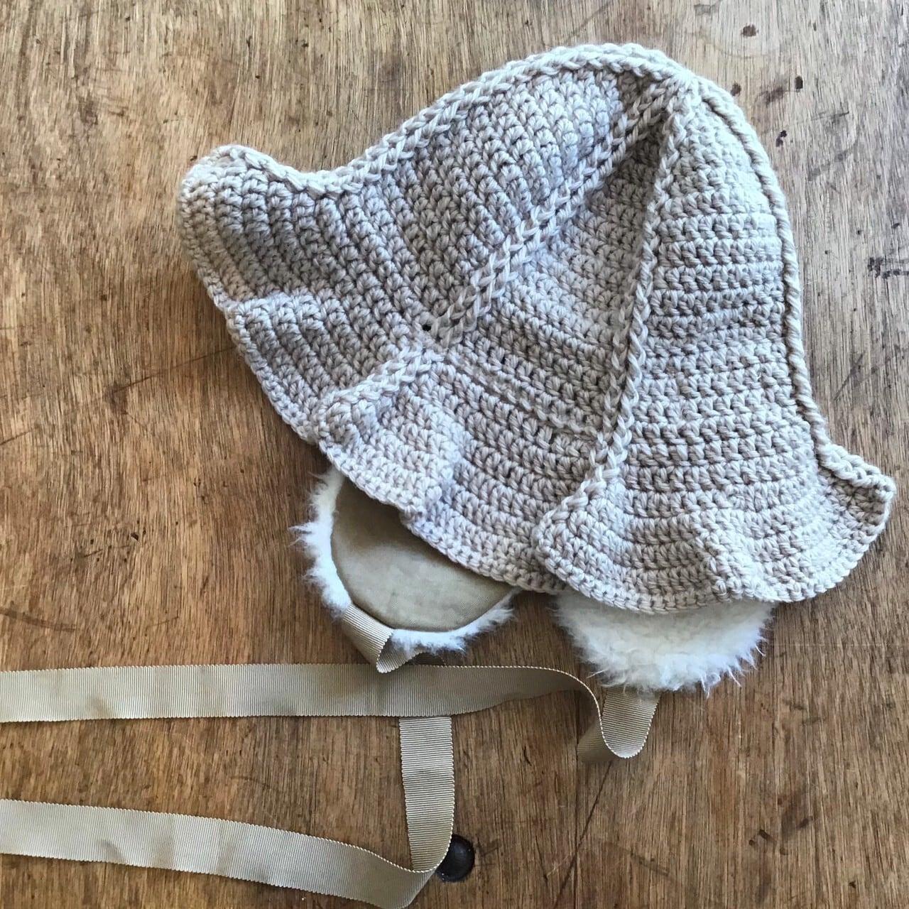 FUMIETANAKA F20A-55tulip knit hat color beige size F