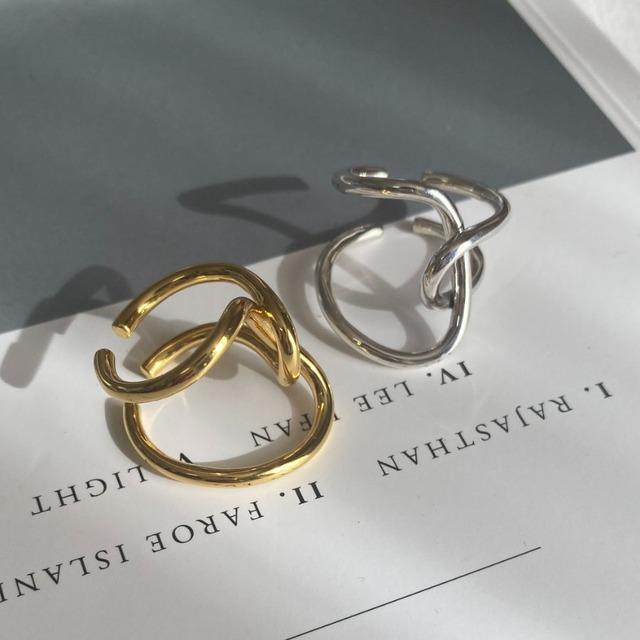◆即納◆【フリーサイズ】シルバー925 デザインリング silver925 シルバー/ゴールド