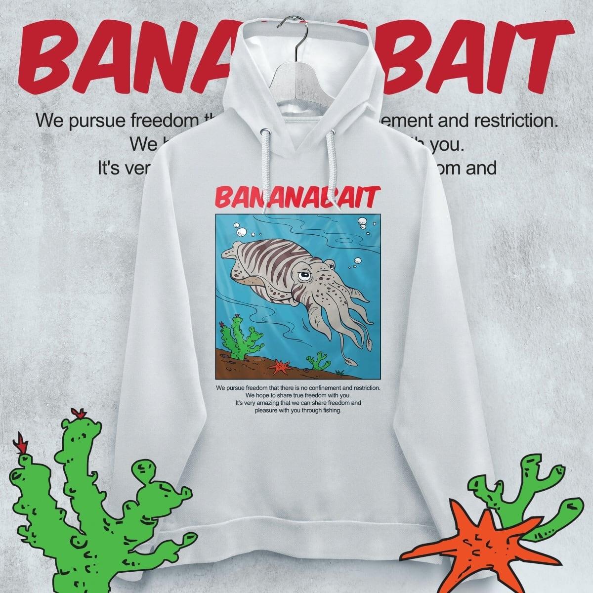 【Banana Bait】Banana Bait Eging Hoodie / White