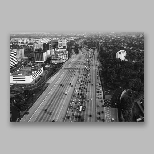 Postcard「Los Angeles Traffic」13cm×18cm Original Print