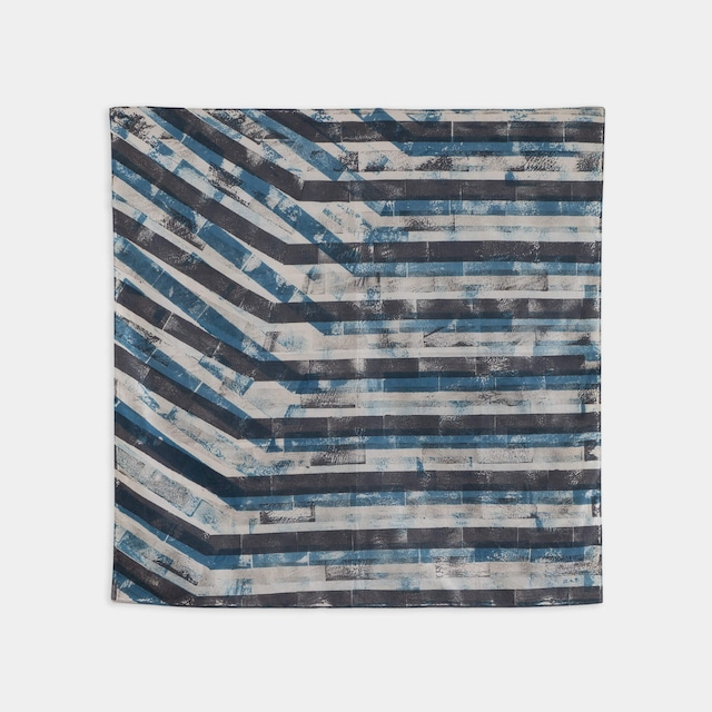 Shiori Mukai Textile 007 向井詩織 ブロックプリント 約90×87cm