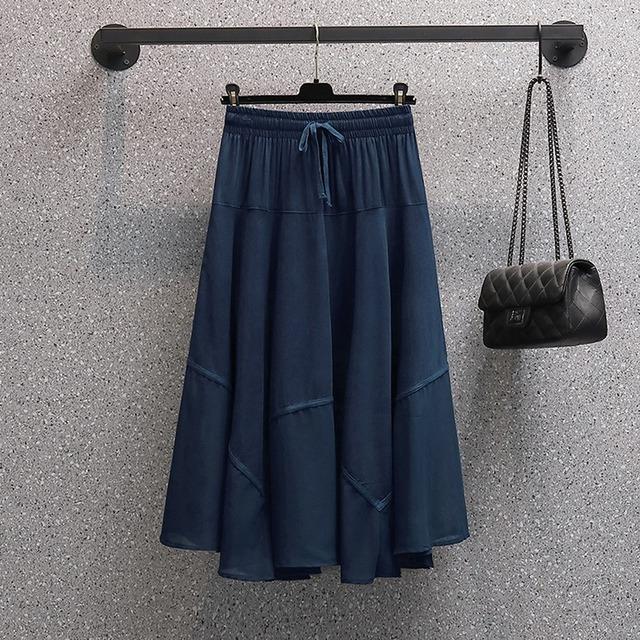 ゆったり着られる♡シフォンスカート