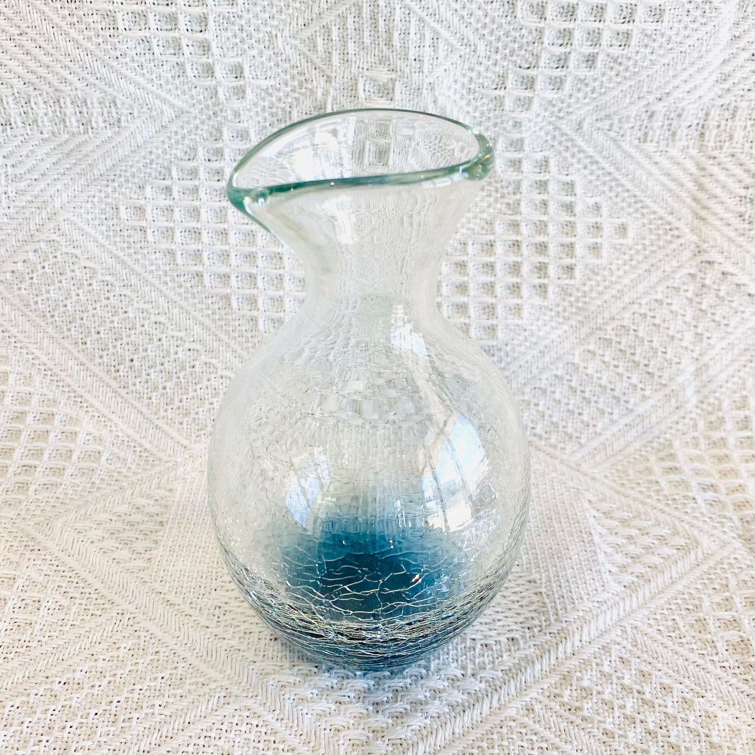 『ガラス工房ロブスト』冷酒ヒビ徳利