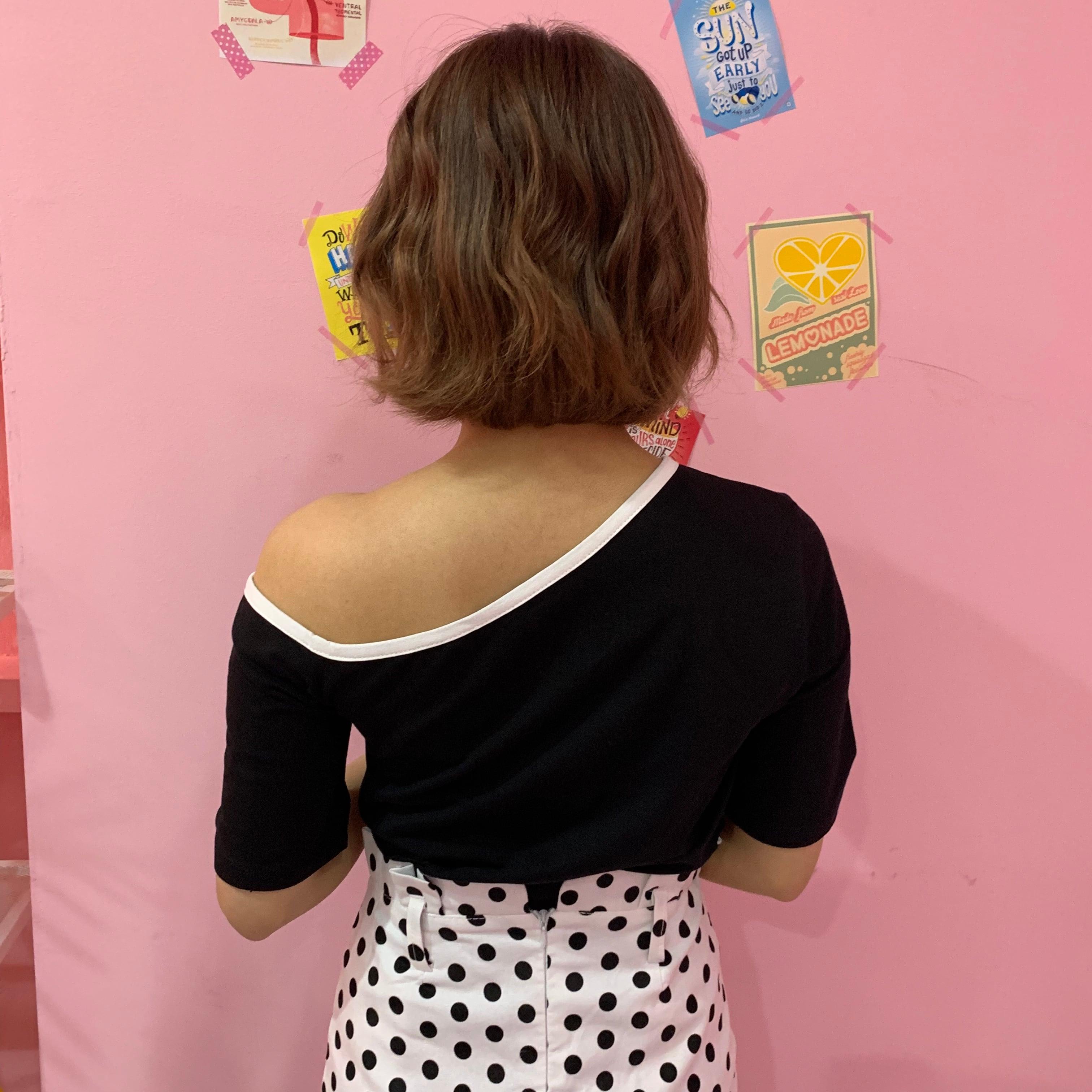 dot A line skirt