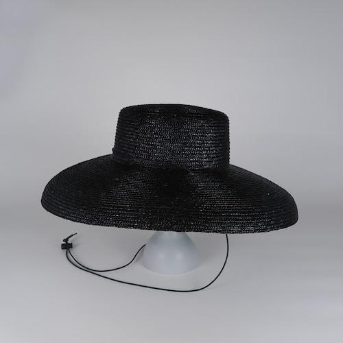 SS21-BD-9 Straw Shade Brim Amish - BLK
