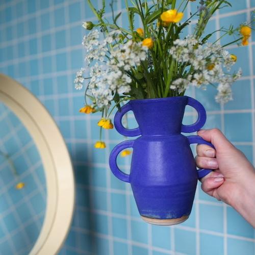 """Sophie Alda """"Flood vase in blue"""""""