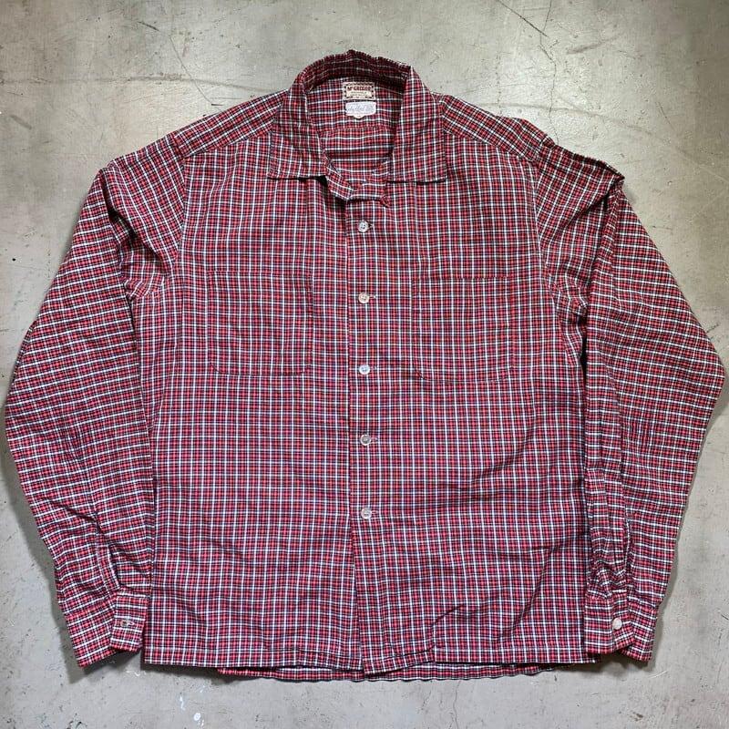 50's 60's McGREGOR マクレガー Galey Lord チェックシャツ オープンカラー ボックス MEDIUM USA製 美品 希少 ヴィンテージ BA-1386 RM1755H
