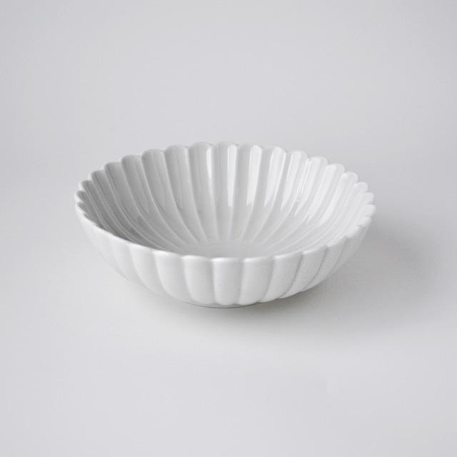 白高麗菊彫取鉢(M)