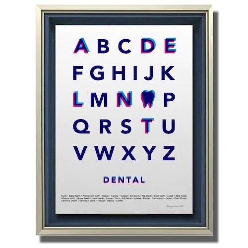 Typography(DENTAL) キキャンバスプリント(B2サイズ)・立体額入り