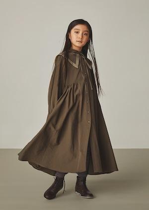 【21AW】GRIS ( グリ )Puritan Collar Dress[ M ]MossGray ワンピース コート