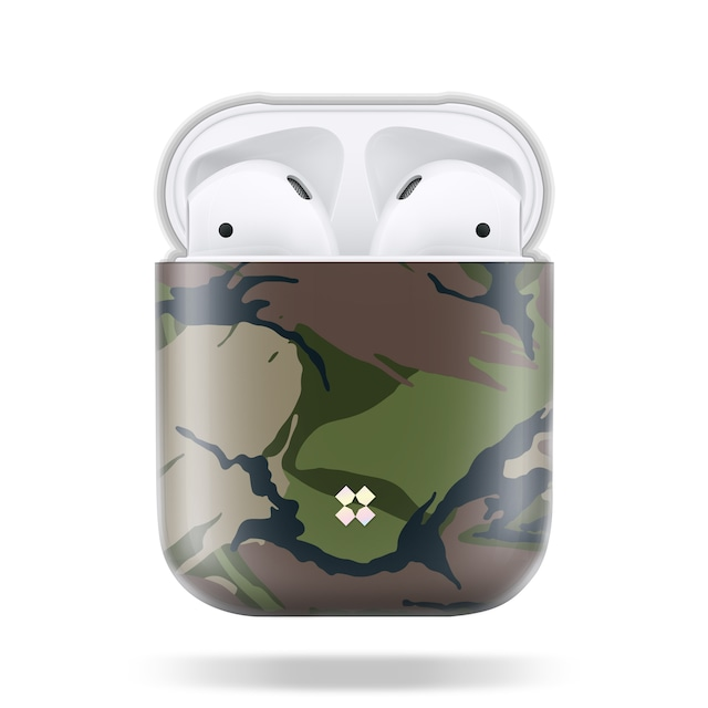 CaseStudi ケーススタディ PRISMART AirPods Case 2018 エアーポッズ ハード ケース 男女兼用 カモフラ 迷彩 Camo Wood 国内正規品