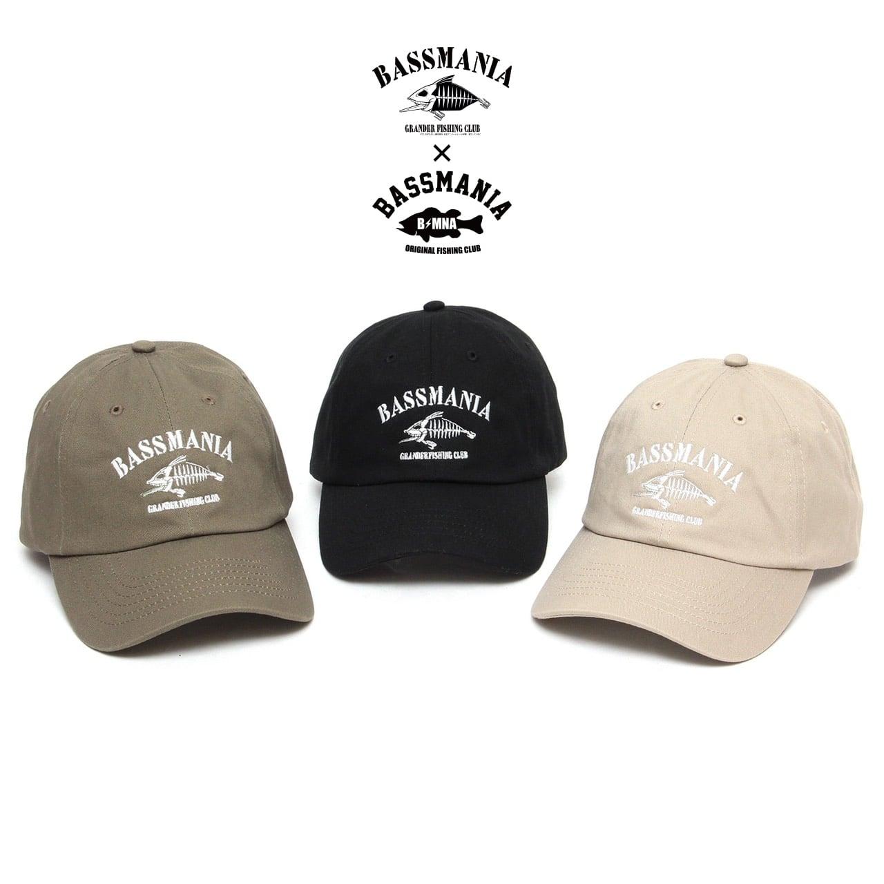 【グランダー武蔵×bassmania】スケルトン刺繍CAP【限定生産】