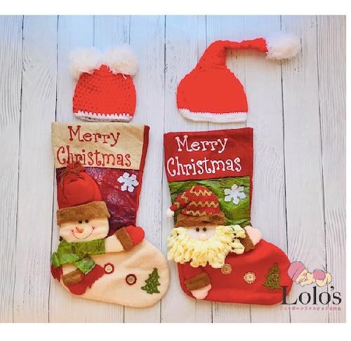 Merry Christmasソックス&帽子set